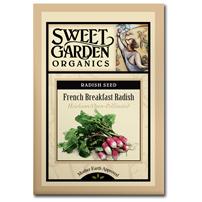 Sweet Garden Organics Seeds - French Breakfast Radish