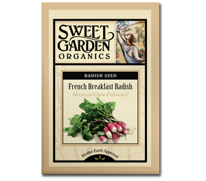 Sweet Garden Organics Seeds - French Breakfast Radish