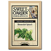 Sweet Garden Organics Seeds - Bloomsdale Spinach