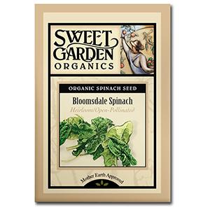 Sweet Garden Organics Seeds - Bloomsdale Spinach
