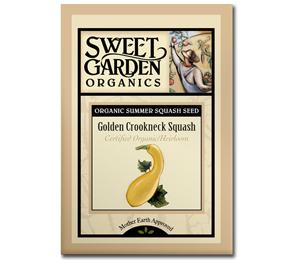 Sweet Garden Organics Seeds - Golden Crookneck Squash
