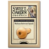Sweet Garden Organics Seeds - Waltham Butternut Squash