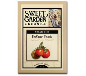 Sweet Garden Organics Seeds - Big Cherry Tomato