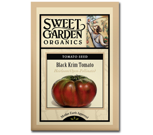 Sweet Garden Organics Seeds - Black Krim Tomato