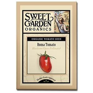 Sweet Garden Organics Seeds - Roma Tomato
