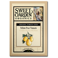 Sweet Garden Organics Seeds - Yellow Pear Tomato