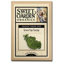 Sweet Garden Organics Seeds - Seven Top Turnip