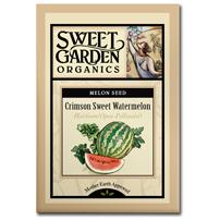 Sweet Garden Organics Seeds - Crimson Sweet Watermelon