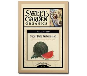 Sweet Garden Organics Seeds - Sugar Baby Watermelon