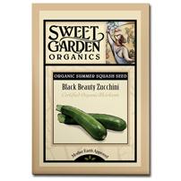 Sweet Garden Organics Seeds - Black Beauty Zucchini