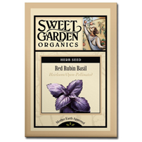 Sweet Garden Organics Seeds - Red Rubin Basil