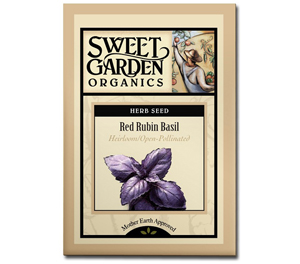 Sweet Garden Organics Seeds - Red Rubin Basil
