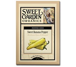 Sweet Garden Organics Seeds - Sweet Banana Pepper