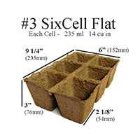 CowPots™ - #3 6-Cell - 6-Cell, 3 Pots per Pack