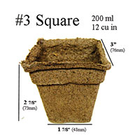 CowPots™ - #3 Square