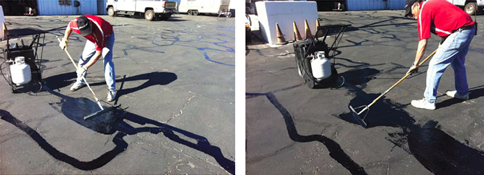 Maintain your parking lot yourself and save!