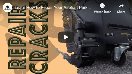 Learn how to repair your parking lot with crackfill