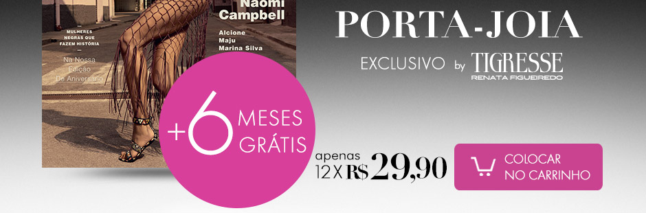 porta-joias exclusivo VOGUE by Trigresse por Renata Figueiredo apenas 12x de R$ 18,00 Assine já!
