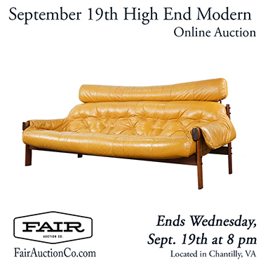 Fair Auction Co of Chantilly VA Vintage High End Modern Design Furniture Auction