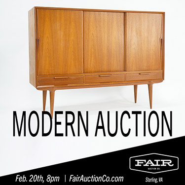 Fair Auction Co of Sterling VA Vintage Midcentury Modern Furniture Auction