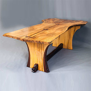 Maryland custom made live edge wood bench furniture from Mosart Fine Art Furniture