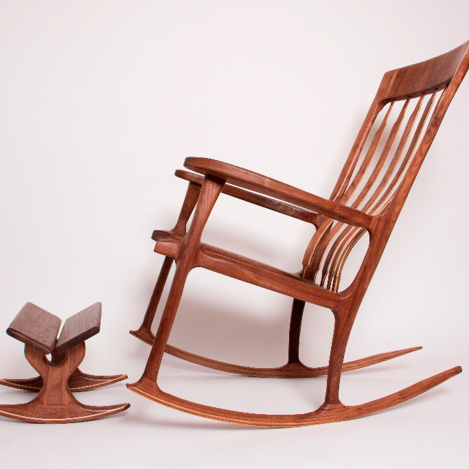 Virginia custom made furniture rocking chair by Jeff Spugnardi