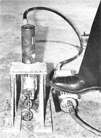 press anchor in floor