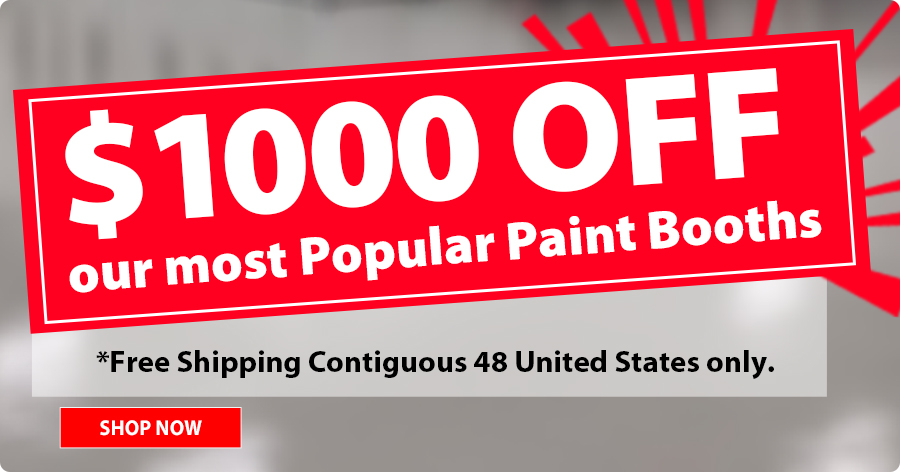 $1000 OFF on Amercian Made Paint Booths!