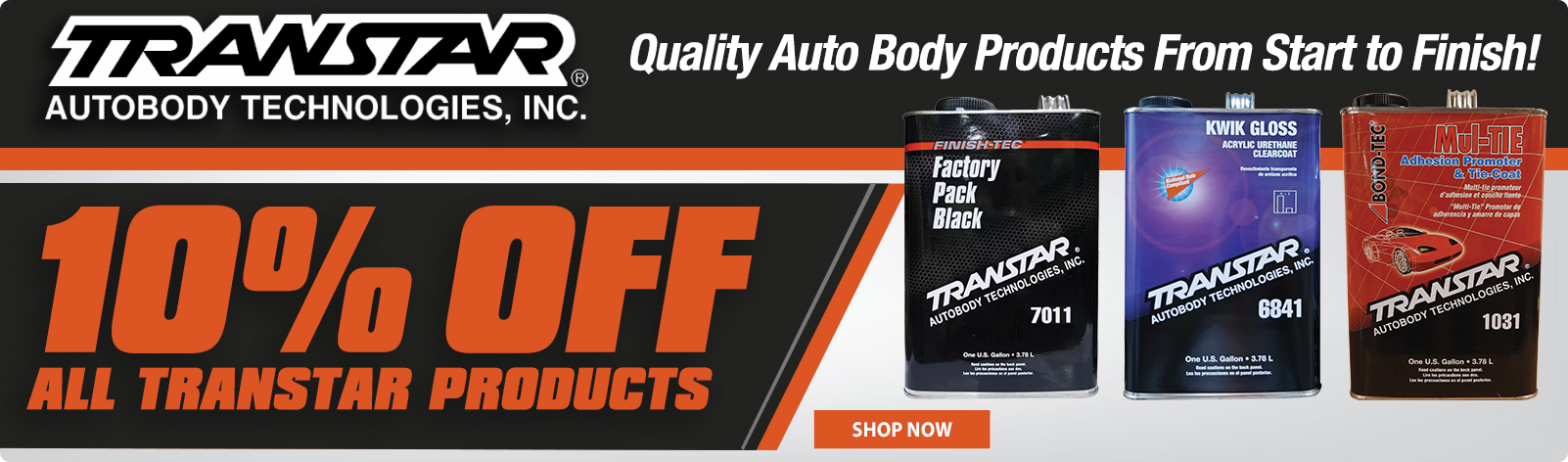 10% Off All Transtar Products!