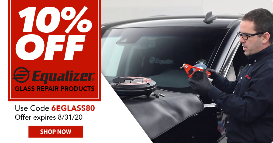 10% OFF All Equalizer Glass Repair Products!