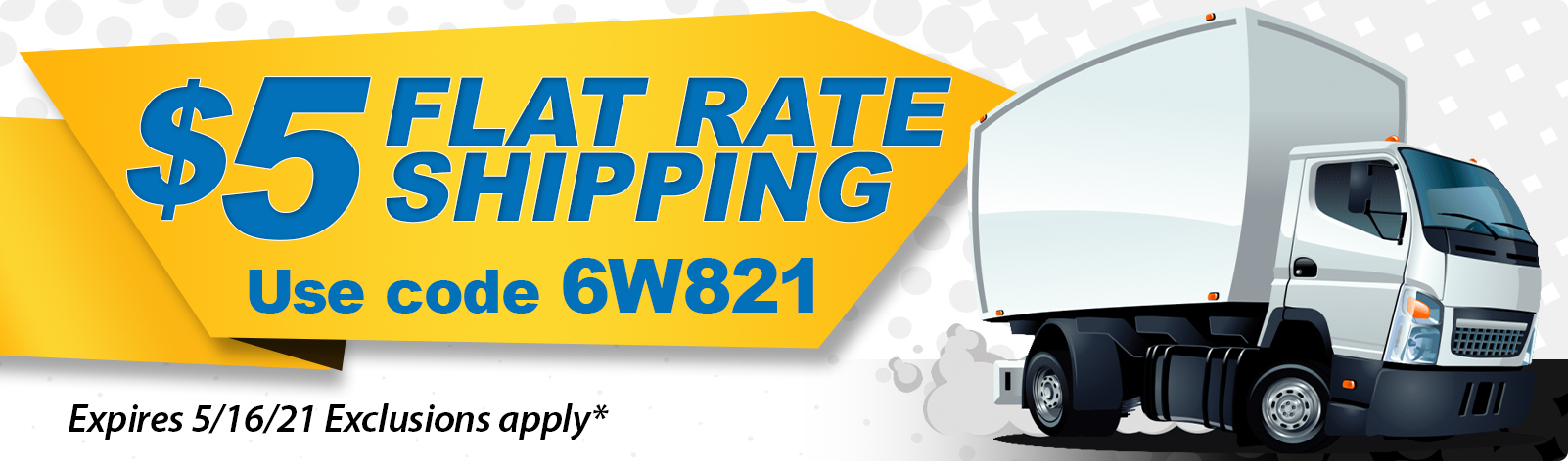 $5 Flat Rate Shipping!
