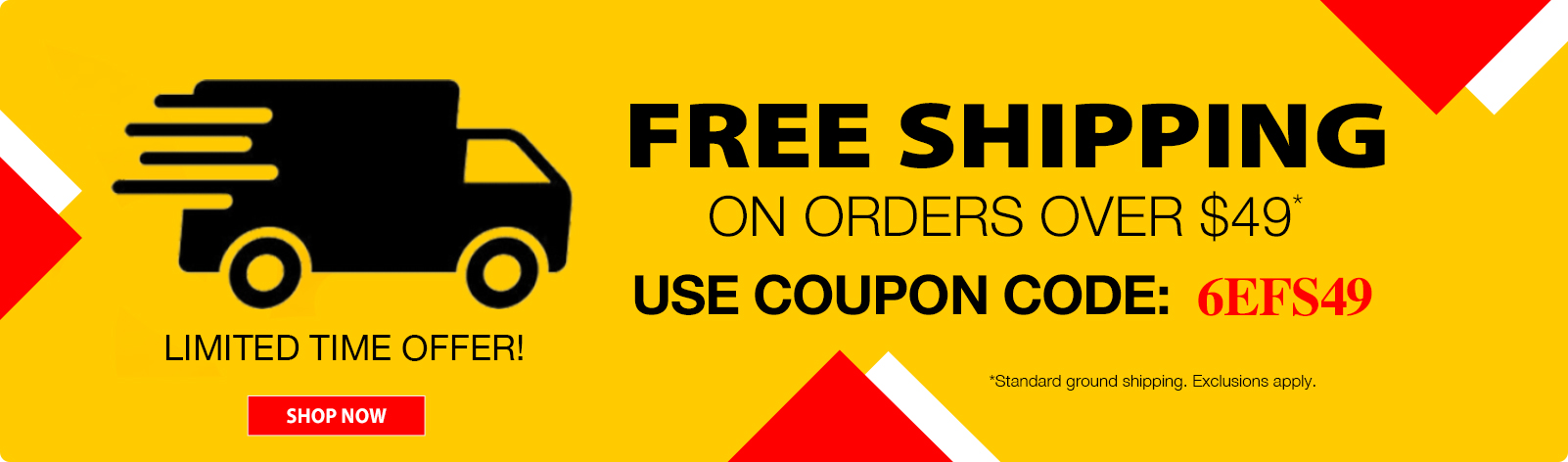 Free Shipping on Order Over $49!