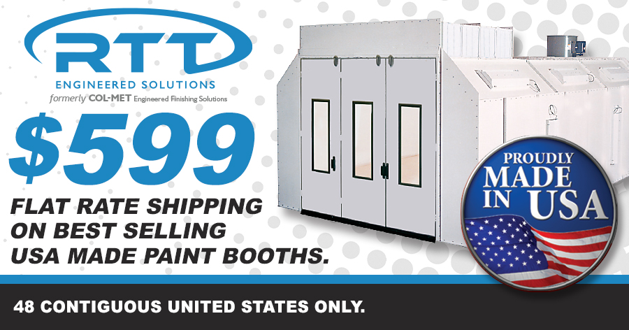Flat Rate Shipping On Paint Booths!