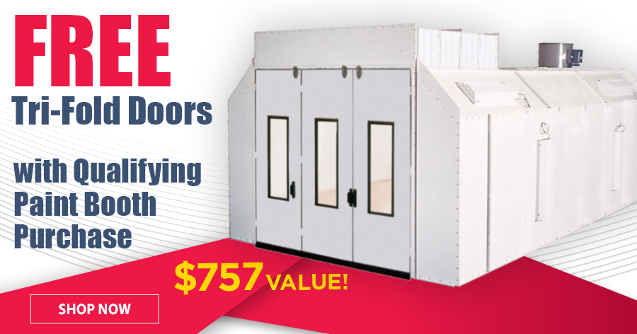 FREE Tri-Fold Doors with qualifying Paint Booth Purchase!