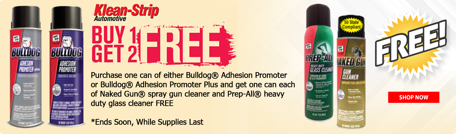 Klean Strip...Buy 1, Get 2 FREE!!