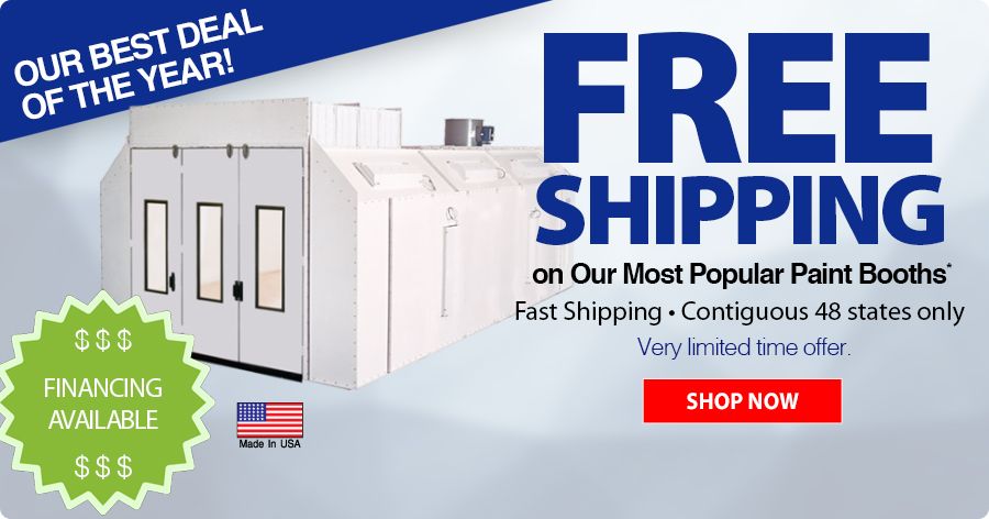 FREE Shipping on Amercian Made Paint Booths!