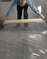 Paint Booth FLoor Flim Application