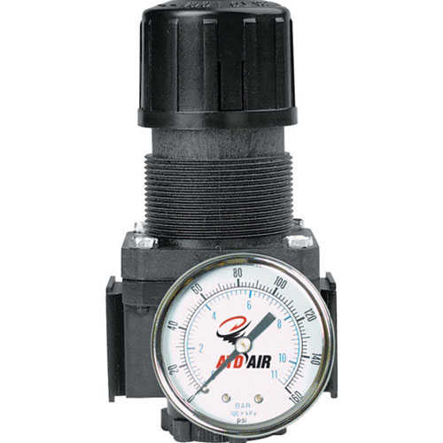 "Standard 1/4"" NPT Air Regulator with Gauge, 50 SCFM"
