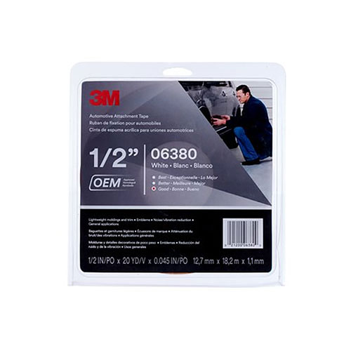 3M Automotive Attachment Tape - White