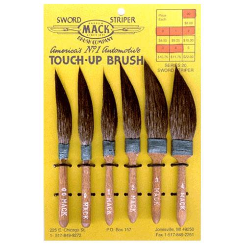 Striping Brushes Set Of 6