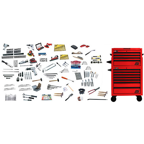 Bodyman's Rollaway Complete Tool Kit, Cabinet, Chest and Assorted Tools