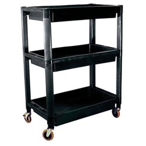 3-Shelf Heavy-Duty Plastic Utility Cart
