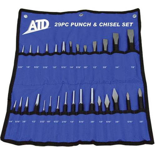 29 Pc. Punch and Chisel Set