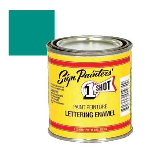 1 Shot Kansas City Teal Lettering Paint, 1/4 Pint - 157L