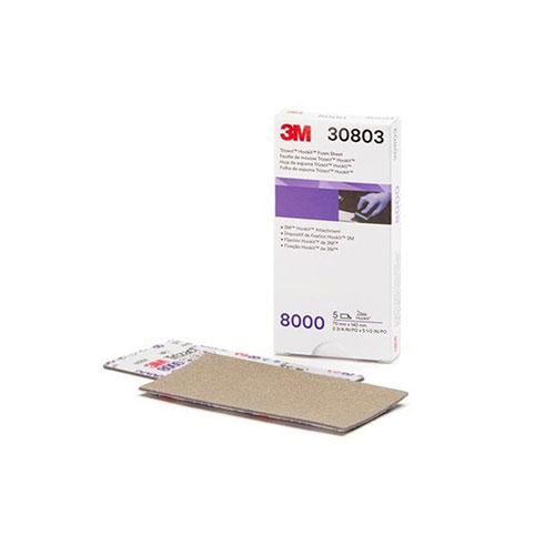 3M Trizact Hookit Foam Sheet, 70mm x 140mm, 8000G - 30803