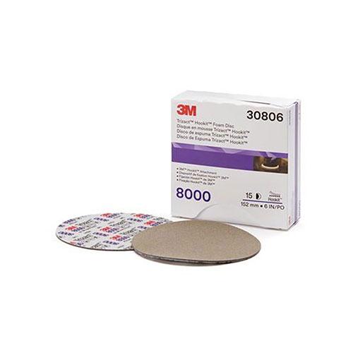 """3M 6"""" Trizact Hookit Foam Disc, 8000G - 30806"""