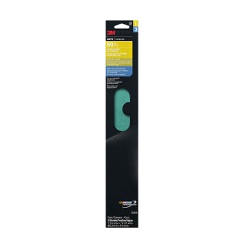 "3M Green Corps 2.75"" x 16.5"" Stikit Sheets, 5-pack"