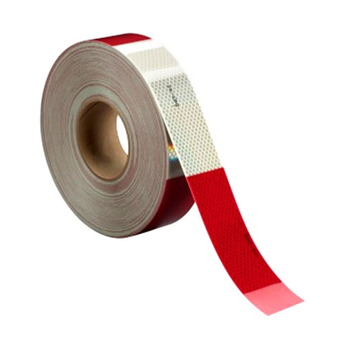 """3M Diamond Grade Conspicuity Marking Roll 983-326, alternating 6"""" Red and 6"""" White bands, 2"""" x 150ft Roll - 67535"""