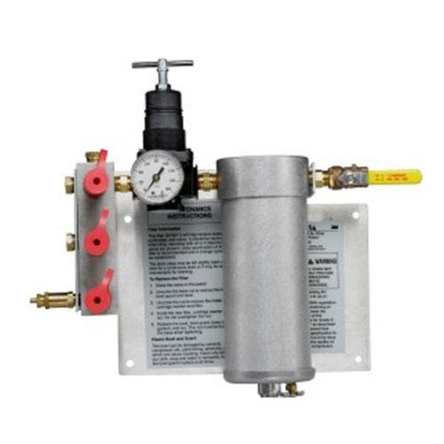 3M Compressed Air Filter and Regulator Panel W-2806, 50 cfm, 3-5 outlets - 07006