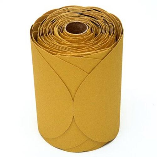 """3M Stikit 6"""" Gold Disc Rolls, 125-175 discs/roll"""
